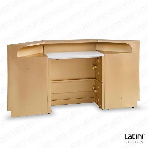 Bar Desk Baltimora Matte Gold