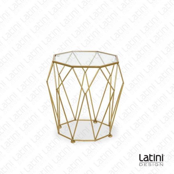 Set da 2 Tavoli Lounge Diamond Gold