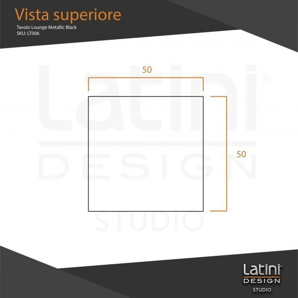 Tavolo Lounge Metallic Black quadrato