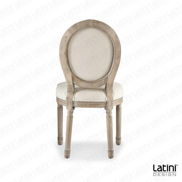 Sedia Luigi XVI Lino in legno