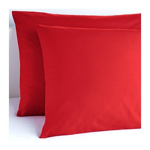 Cuscino quadrato Rosso 40x40 cm