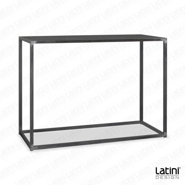 Tavolo alto Metallic Silver 150x60 cm H 110 cm