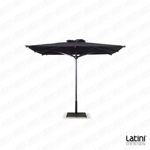 Ombrellone Formia 3x3 mt palo centrale alluminio nero lucido
