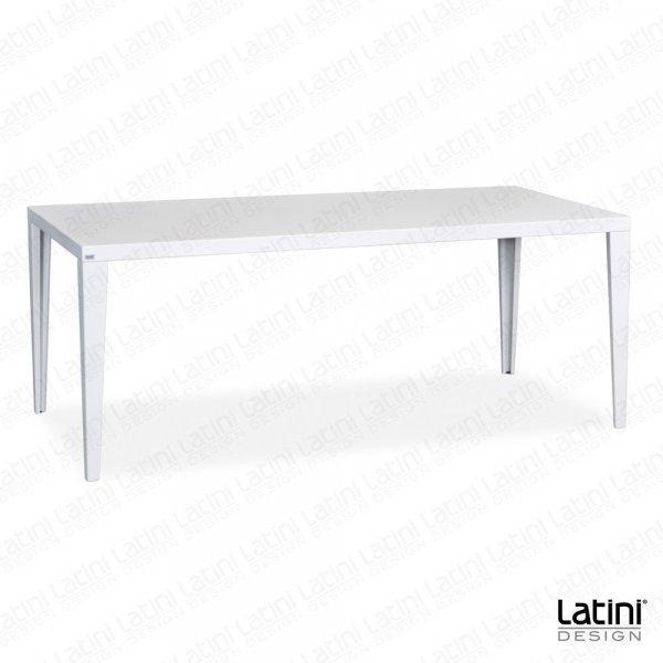 Tavolo Rettangolare Logan in ferro  Bianco