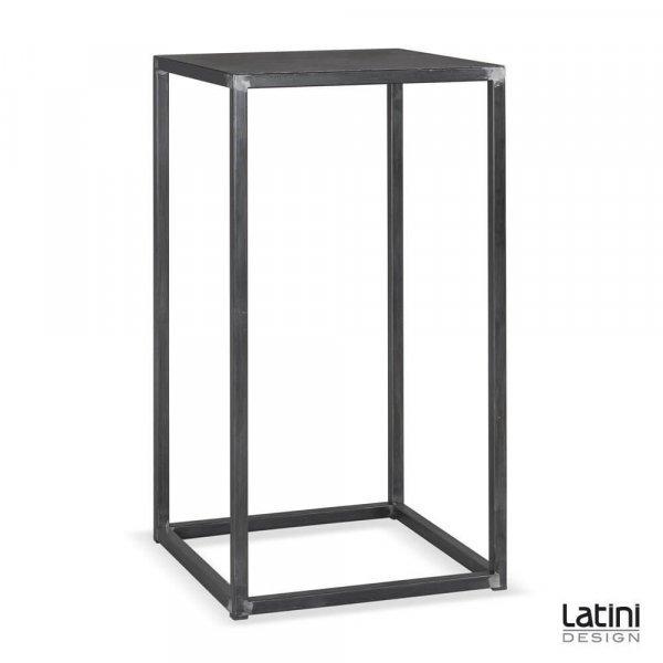 Tavolo alto Metallic Silver 60x60 cm H 110 cm