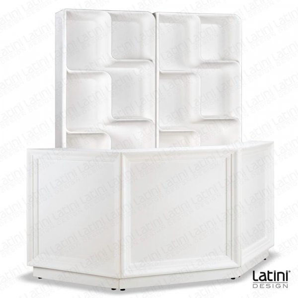 Portabottiglie Back Bar Austin bianco 80x48 CM H 204 CM