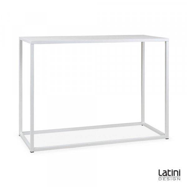 Tavolo alto Metallic White 150x60 cm H 110 cm