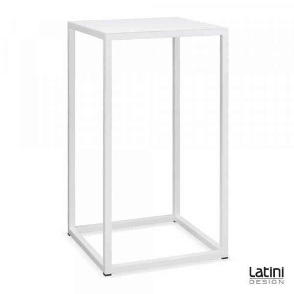 Tavolo alto Metallic White 60x60 cm H 110 cm