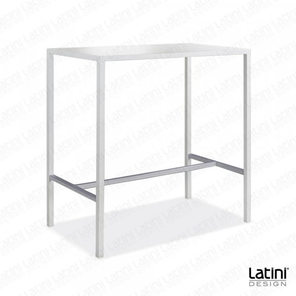 Tavolo alto Metallic Satinato 105x60 cm H 110 cm