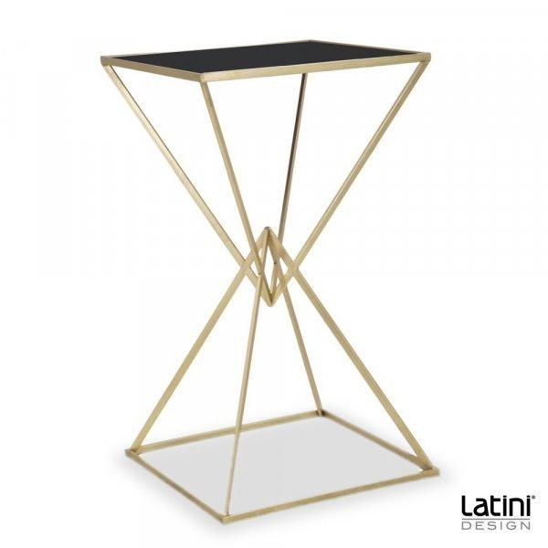 Tavolo Alto Pyramid Gold Black top