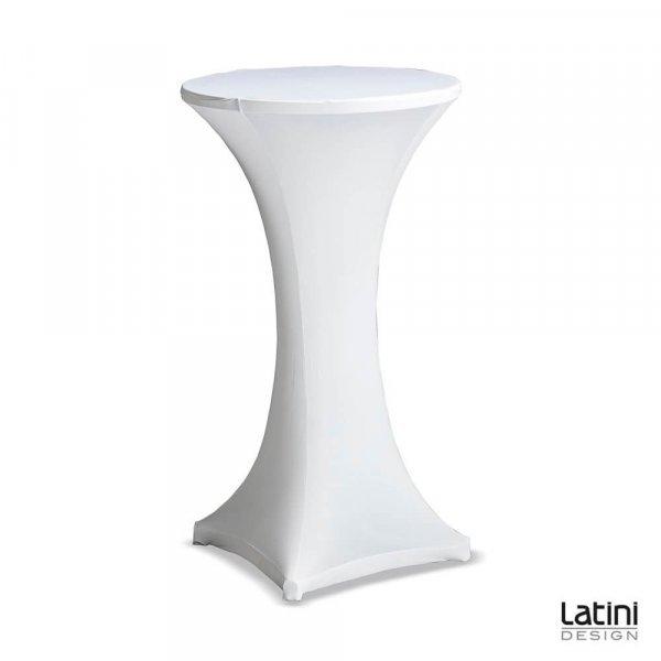 Tavolo Alto Nora Tondo ø 60 cm H 100 cm Bianco