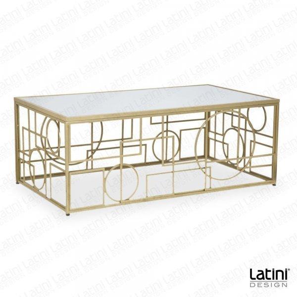 Tavolo Lounge Circle Gold rettangolare