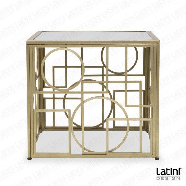 Tavolo Lounge Circle Gold quadrato