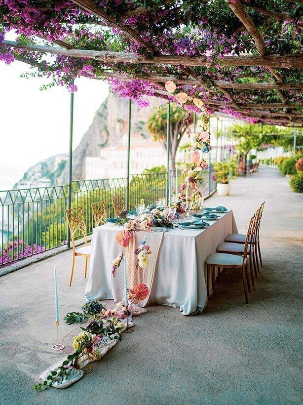 latini design amalfi wedding